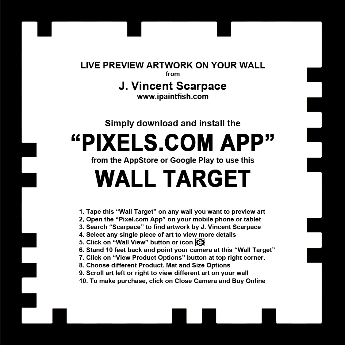 PRINT WALL TARGET NOW